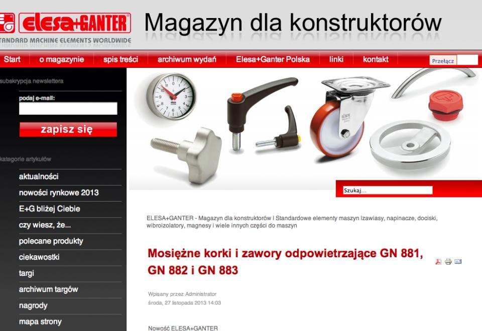 Elesa+Ganter Polska – Magazyn dla Konstruktorów